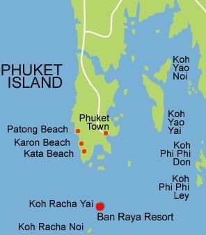Map of Ban Raya Resort & Spa